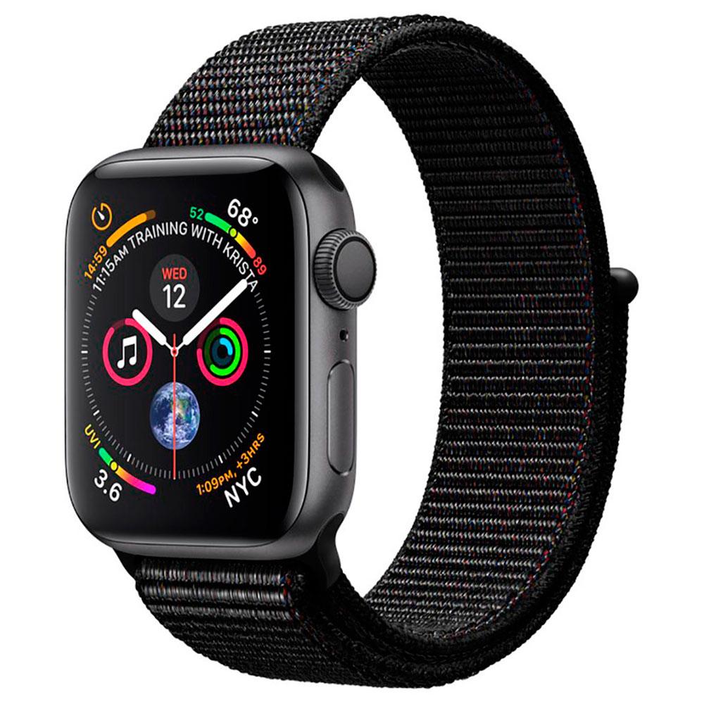 Купить Смарт-часы Apple Watch Series 4 44mm GPS+LTE Space Gray Aluminum Case Black Sport Loop (MTUX2)