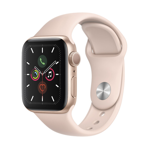 Apple Watch Series 5 40mm Gold Aluminium Case Sport Band (MWV72)