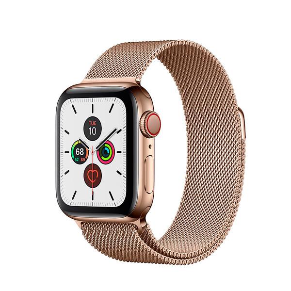 Смарт-часы Apple Watch Series 5 40mm Gold Stainless Steel Case Milanese Loop (MWWV2)