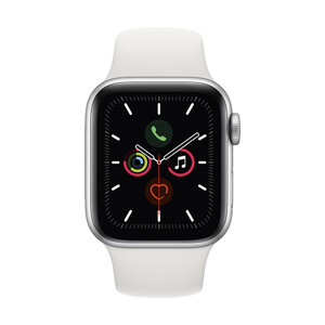 Купить Apple Watch Series 5 40mm Silver Aluminium Case Sport Band (MWV62)