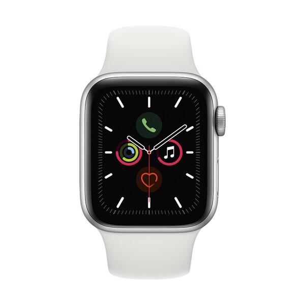 Apple Watch Series 5 40mm Silver Aluminium Case Sport Band (MWV62)