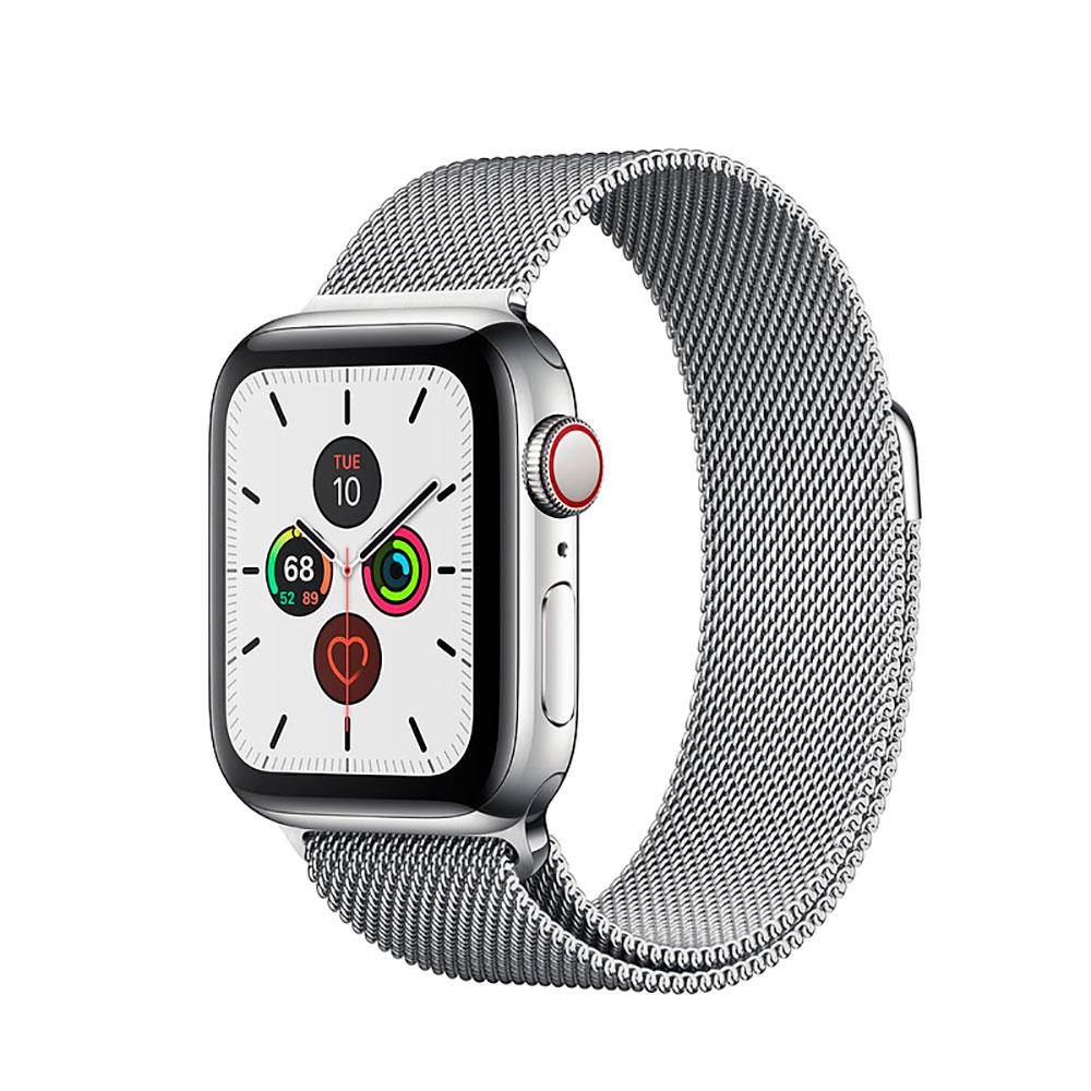 Купить Смарт-часы Apple Watch Series 5 40mm Silver Stainless Steel Case Milanese Loop (MWWT2)