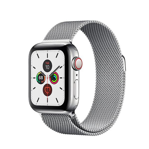 Смарт-часы Apple Watch Series 5 40mm Silver Stainless Steel Case Milanese Loop (MWWT2)