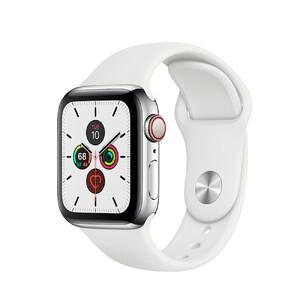 Купить Смарт-часы Apple Watch Series 5 40mm Silver Stainless Steel Case White Sport Band (MWWR2)