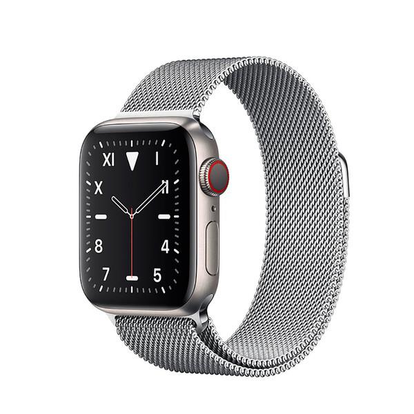 Смарт-часы Apple Watch Series 5 40mm Titanium Case Silver Milanese Loop (MWQT2)