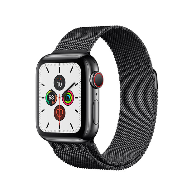 Смарт-часы Apple Watch Series 5 40mm Space Black Stainless Steel Case Milanese Loop (MWWX2)