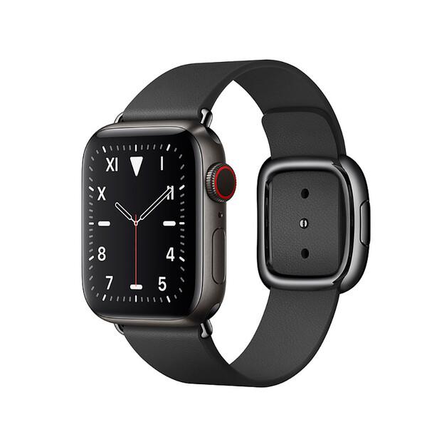 Смарт-часы Apple Watch Series 5 40mm Space Black Titanium Case Black Modern Buckle (MWQD2)