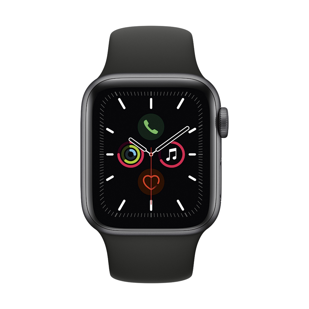 Купить Apple Watch Series 5 40mm Space Gray Aluminum Case Sport Band (MWV82)
