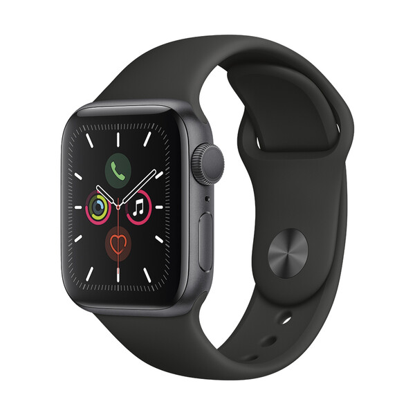 Apple Watch Series 5 40mm Space Gray Aluminum Case Sport Band (MWV82)