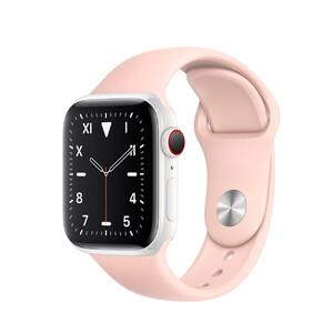 Купить Смарт-часы Apple Watch Series 5 40mm White Ceramic Case Pink Sand Sport Band (MWQU2)