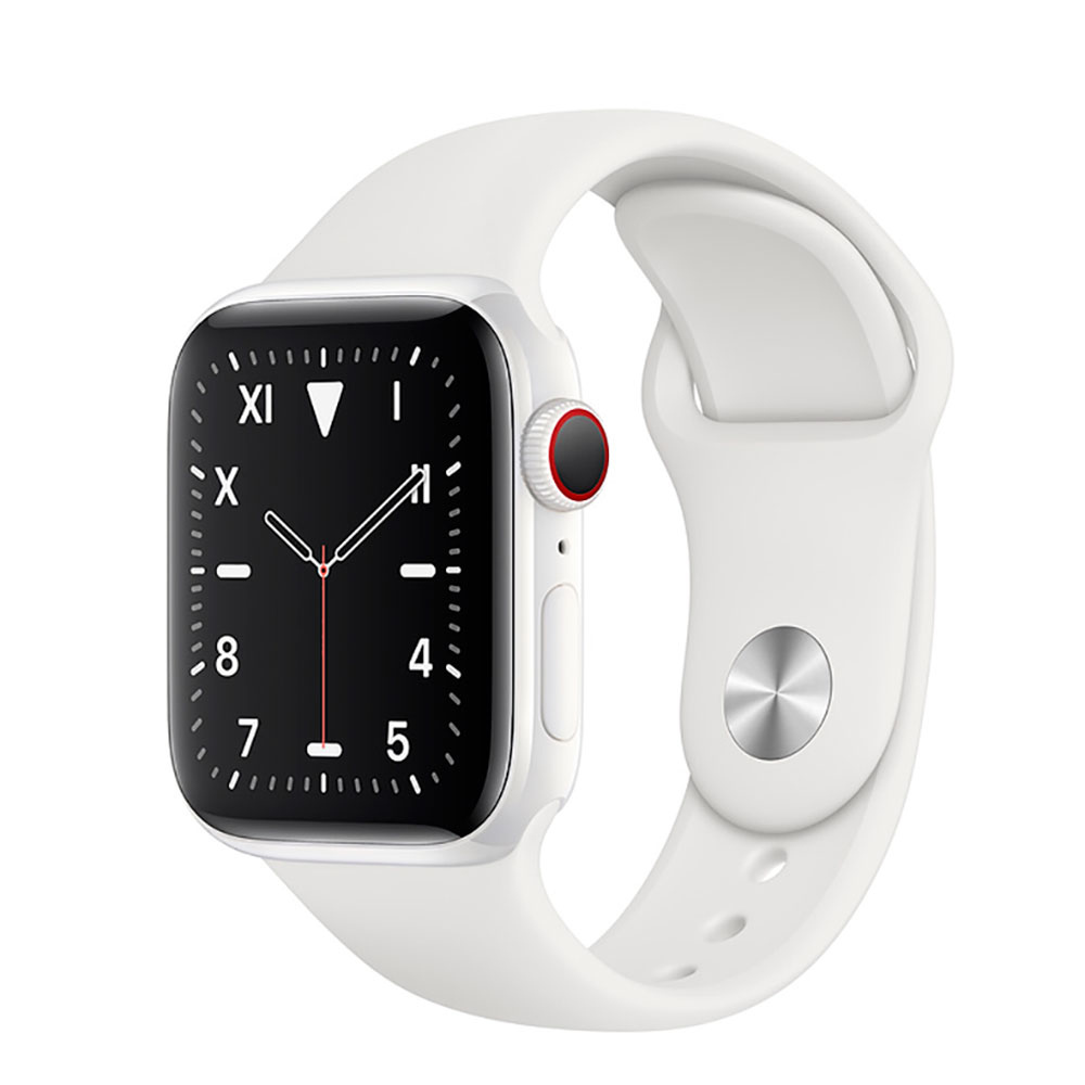 Купить Смарт-часы Apple Watch Series 5 44mm White Ceramic Case White Sport Band (MWQU2)