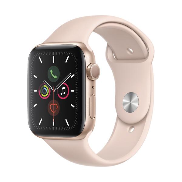 Смарт-часы Apple Watch Series 5 44mm Gold Aluminum Case Sport Band (MWVE2)
