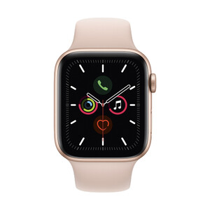 Купить Apple Watch Series 5 44mm Gold Aluminum Case Sport Band (MWVE2)
