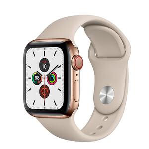 Купить Смарт-часы Apple Watch Series 5 44mm Gold Stainless Steel Case Stone Sport Band (MWW52)