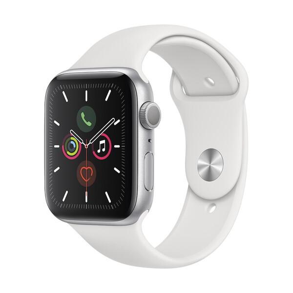 Смарт-часы Apple Watch Series 5 44mm Silver Aluminum Case Sport Band (MWVD2)
