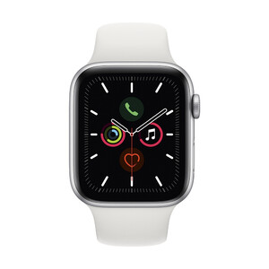 Купить Apple Watch Series 5 44mm Silver Aluminum Case Sport Band (MWVD2)