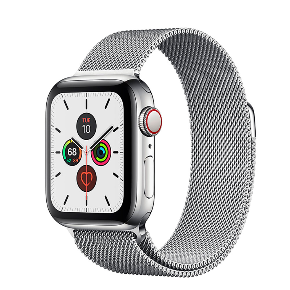 Купить Смарт-часы Apple Watch Series 5 44mm Silver Stainless Steel Case Milanese Loop (MWW32)