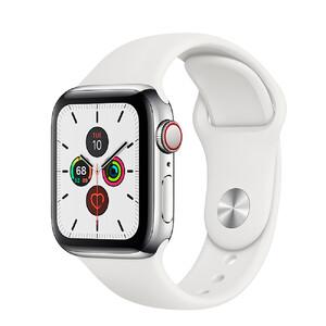 Купить Смарт-часы Apple Watch Series 5 44mm Silver Stainless Steel Case White Sport Band (MWW22)