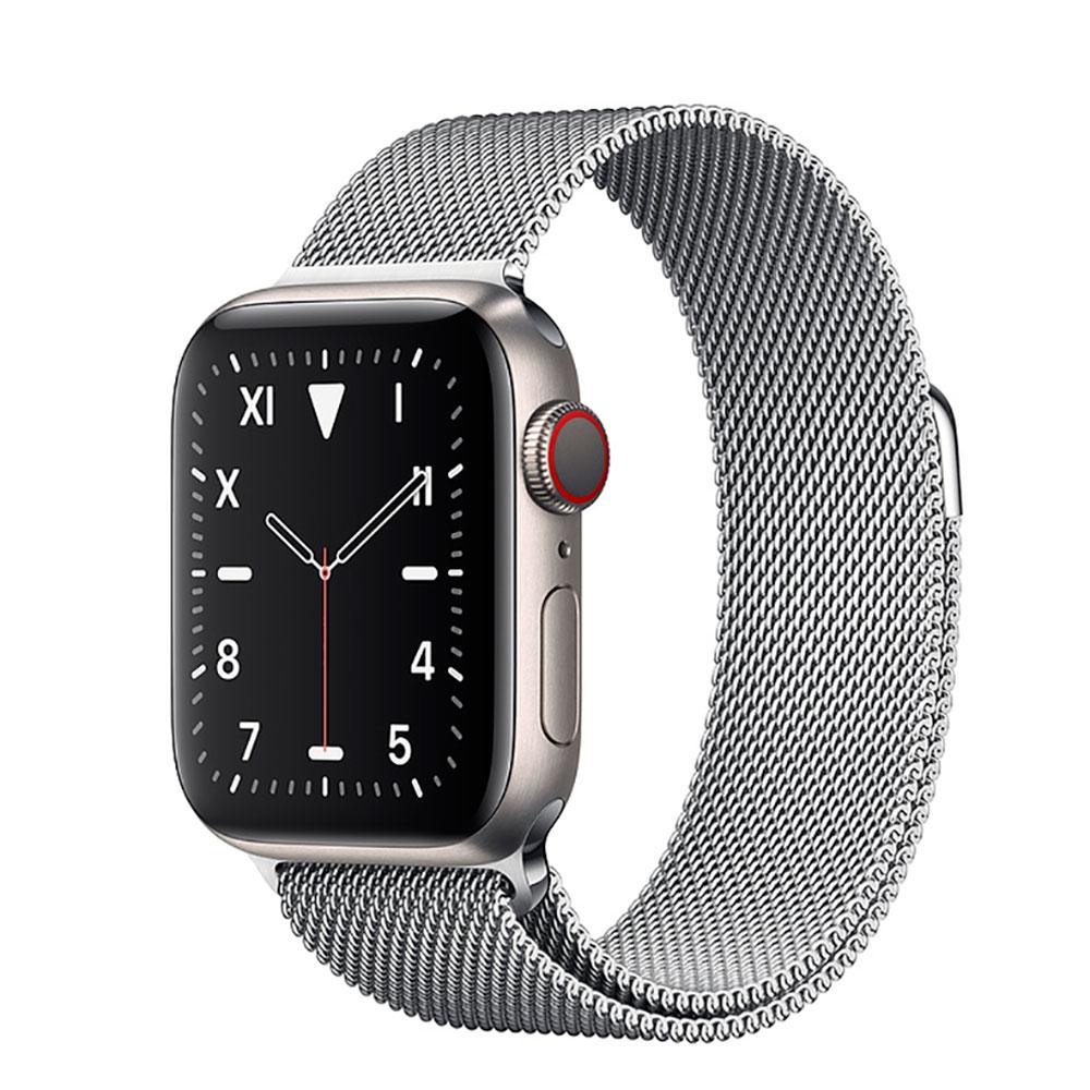 Купить Смарт-часы Apple Watch Series 5 44mm Titanium Case Silver Milanese Loop (MWQT2)
