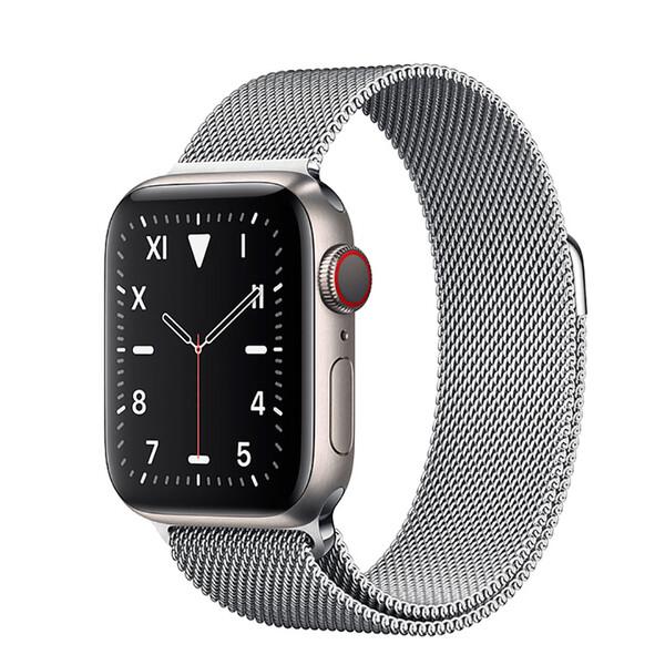 Смарт-часы Apple Watch Series 5 44mm Titanium Case Silver Milanese Loop (MWQT2)