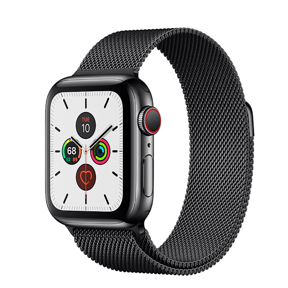 Купить Смарт-часы Apple Watch Series 5 44mm Space Black Stainless Steel Case Milanese Loop (MWW82)