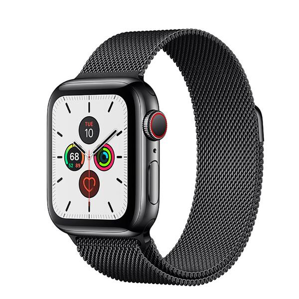 Смарт-часы Apple Watch Series 5 44mm Space Black Stainless Steel Case Milanese Loop (MWW82)