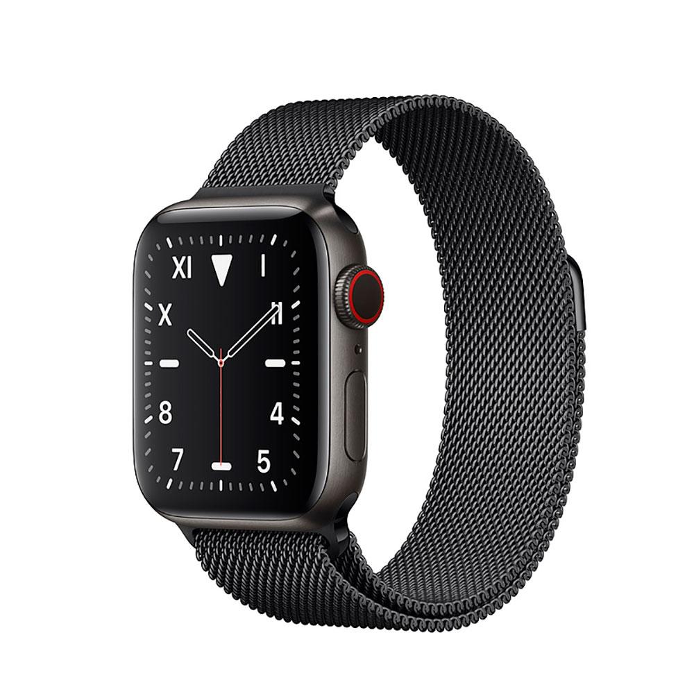 Купить Смарт-часы Apple Watch Series 5 40mm Space Black Titanium Case Black Milanese Loop (MWQR2)