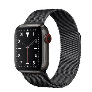 Купить Смарт-часы Apple Watch Series 5 44mm Space Black Titanium Case Black Milanese Loop (MWQR2)