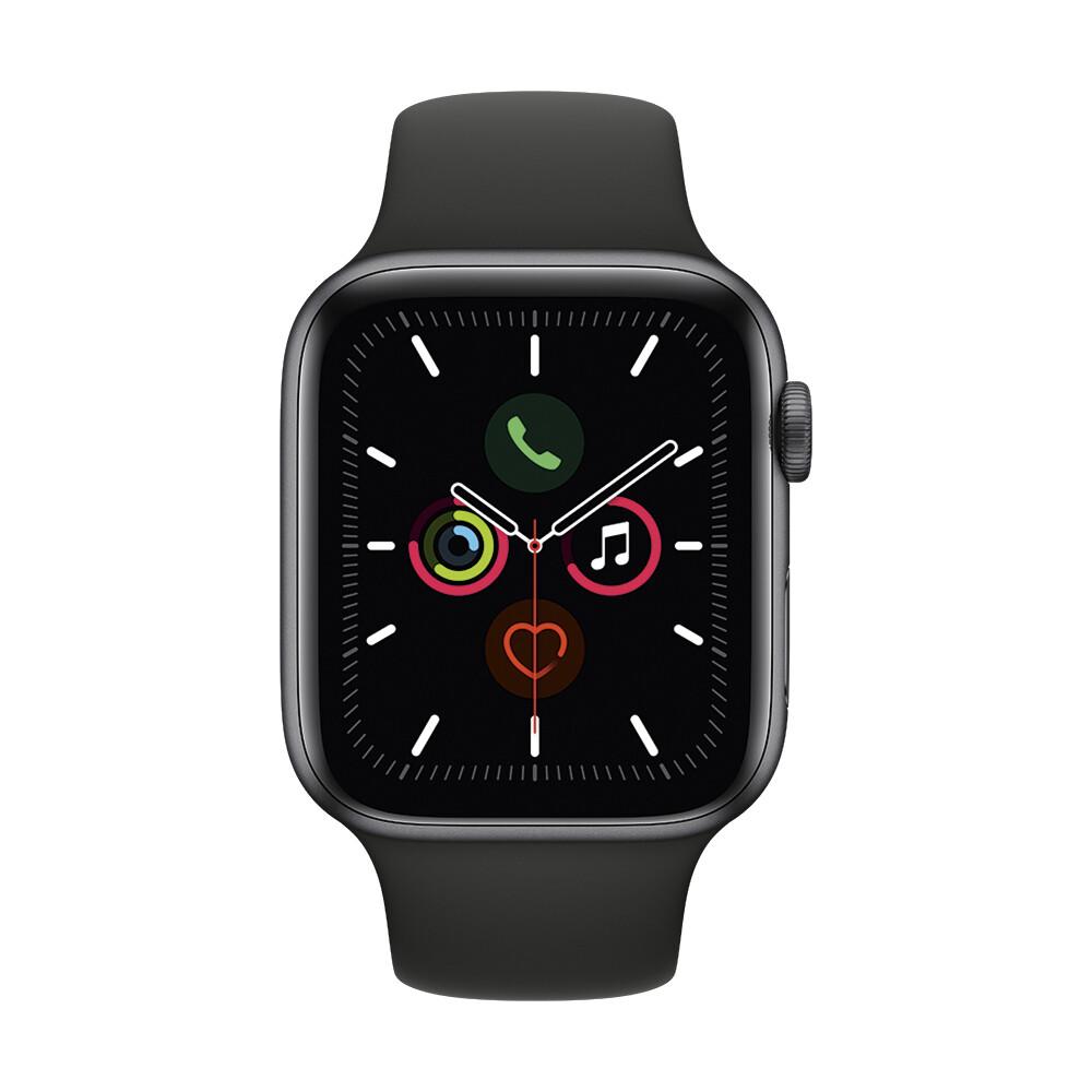 Смарт-часы Apple Watch Series 5 44mm Space Gray Aluminum Case Sport Band (MWVF2)