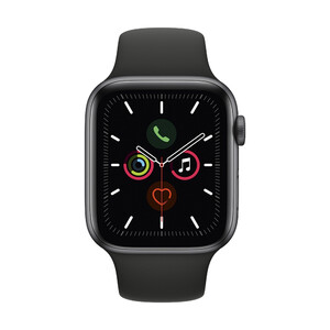 Купить Apple Watch Series 5 44mm Space Gray Aluminum Case Sport Band (MWVF2)