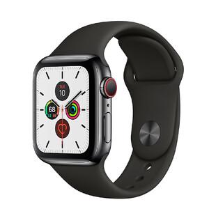 Купить Смарт-часы Apple Watch Series 5 44mm Space Black Stainless Steel Case Black Sport Band (MWW72)