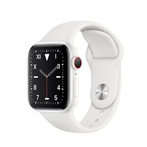 Купить Смарт-часы Apple Watch Series 5 40mm White Ceramic Case White Sport Band (MWQU2)