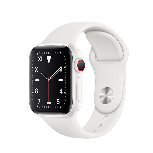 Смарт-часы Apple Watch Series 5 40mm White Ceramic Case White Sport Band (MWQU2)
