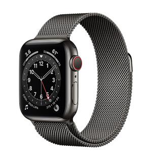 Купить Смарт-часы Apple Watch Series 6 GPS + Cellular, 40mm Graphite Stainless Steel Case with Graphite Milanese Loop (MG2U3   M06Y3)