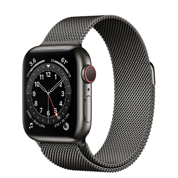 Смарт-часы Apple Watch Series 6 GPS + Cellular, 40mm Graphite Stainless Steel Case with Graphite Milanese Loop (MG2U3   M06Y3)