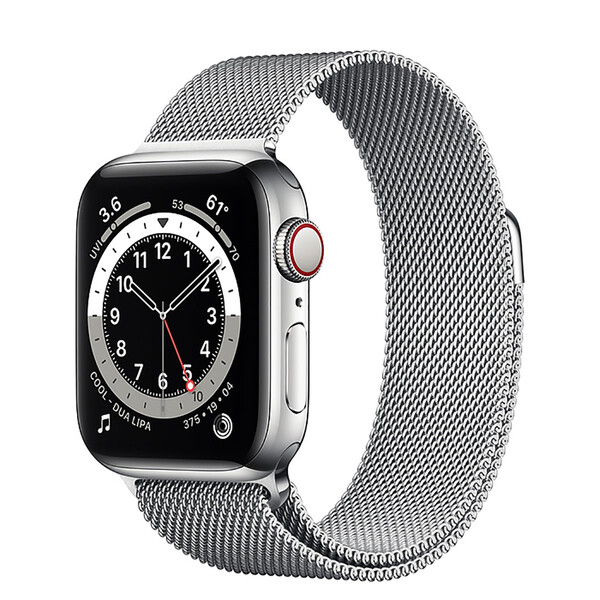 Смарт-часы Apple Watch Series 6 GPS + Cellular, 40mm Silver Stainless Steel Case with Silver Milanese Loop (M02V3   M06U3)