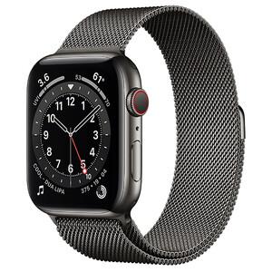 Купить Смарт-часы Apple Watch Series 6 GPS + Cellular, 44mm Graphite Stainless Steel Case with Graphite Milanese Loop (M07R3 | M09J3)