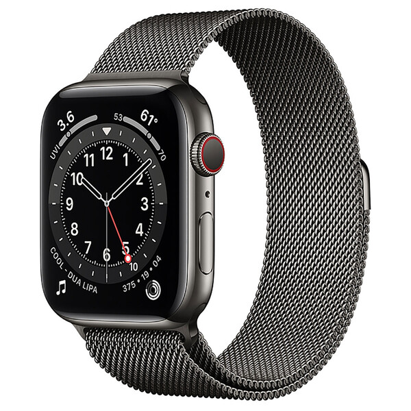 Смарт-часы Apple Watch Series 6 GPS + Cellular, 44mm Graphite Stainless Steel Case with Graphite Milanese Loop (M07R3   M09J3)