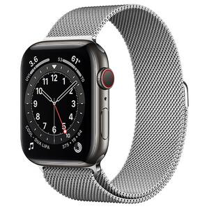 Купить Смарт-часы Apple Watch Series 6 GPS + Cellular, 44mm Graphite Stainless Steel Case with Silver Milanese Loop (M0GG3/M0GX3)