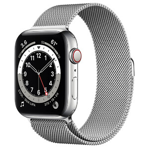 Купить Смарт-часы Apple Watch Series 6 GPS + Cellular, 44mm Silver Stainless Steel Case with Silver Milanese Loop (M07M3 | M09E3)