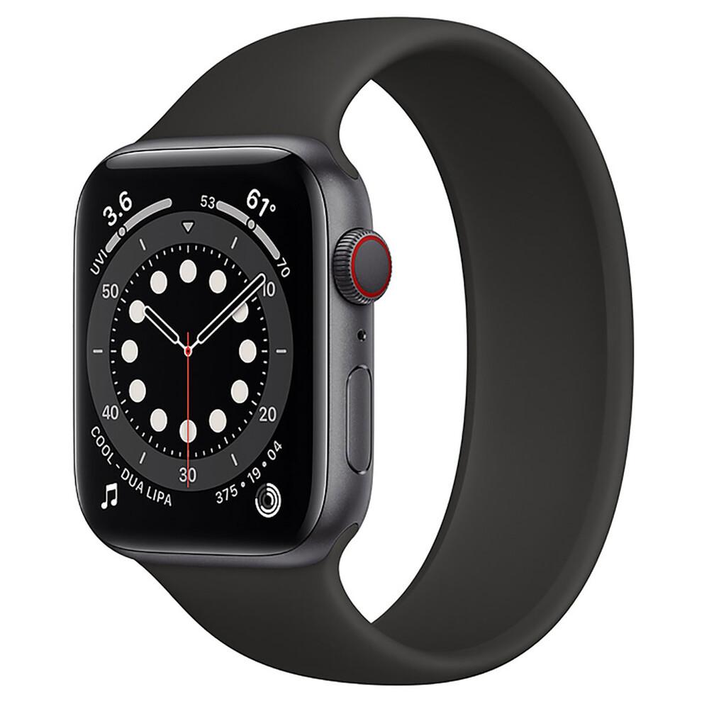 Купить Смарт-часы Apple Watch Series 6 GPS + Cellular, 44mm Space Gray Aluminum Case with Black Solo Loop (M0G83   MOGR3) Размер 6