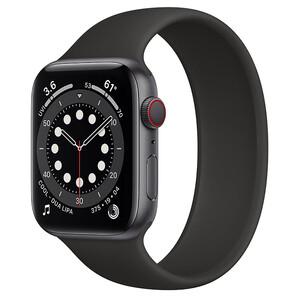 Купить Смарт-часы Apple Watch Series 6 GPS + Cellular, 44mm Space Gray Aluminum Case with Black Solo Loop (M0G83/MOGR3) Размер 10