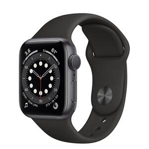 Купить Смарт-часы Apple Watch Series 6 GPS, 40mm Space Gray Aluminum Case with Black Sport Band (MG133)