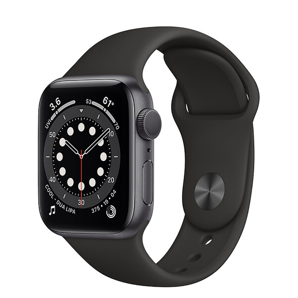 Смарт-часы Apple Watch Series 6 GPS, 40mm Space Gray Aluminum Case with Black Sport Band (MG133)
