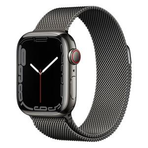 Купить Смарт-часы Apple Watch Series 7 GPS + Cellural, 45mm Graphite Stainless Steel Case with Graphite Milanese Loop (MKJJ3)