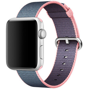 Купить Ремешок Apple 42mm Light Pink/Midnight Blue Woven Nylon (MNKG2) для Apple Watch Series 1/2/3