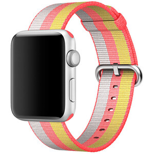 Купить Ремешок Apple 42mm/44mm Red Woven Nylon (MPW72) для Apple Watch Series 1/2/3/4