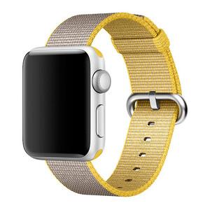 Купить Ремешок Apple 38mm/40mm Yellow/Light Gray Woven Nylon (MNK72) для Apple Watch Series 1/2/3/4