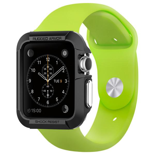 Купить Чехол Spigen Rugged Armor Black для Apple Watch Series 1 | 2 | 3 42mm