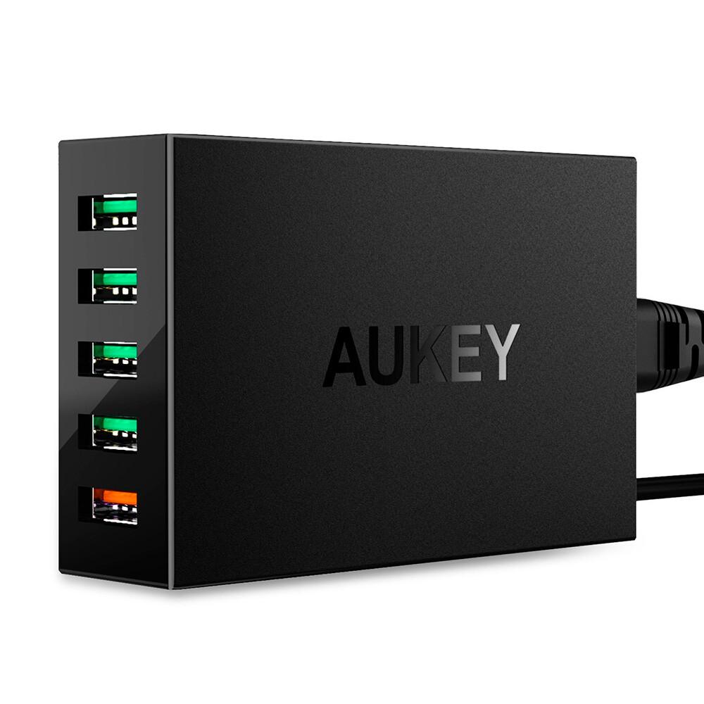 Быстрая зарядная станция Aukey 5-Port USB AIPower Quick Charge 3.0